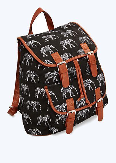 Aztec Indian Elephant backpack ~rue21  ba9a603ea506a
