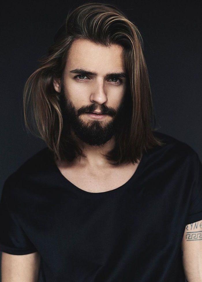 cheveux longs homme quand la taille compte coiffures pinterest cheveux longs hommes. Black Bedroom Furniture Sets. Home Design Ideas