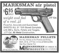 Marksman Air Pistol 1958 Ad Picture