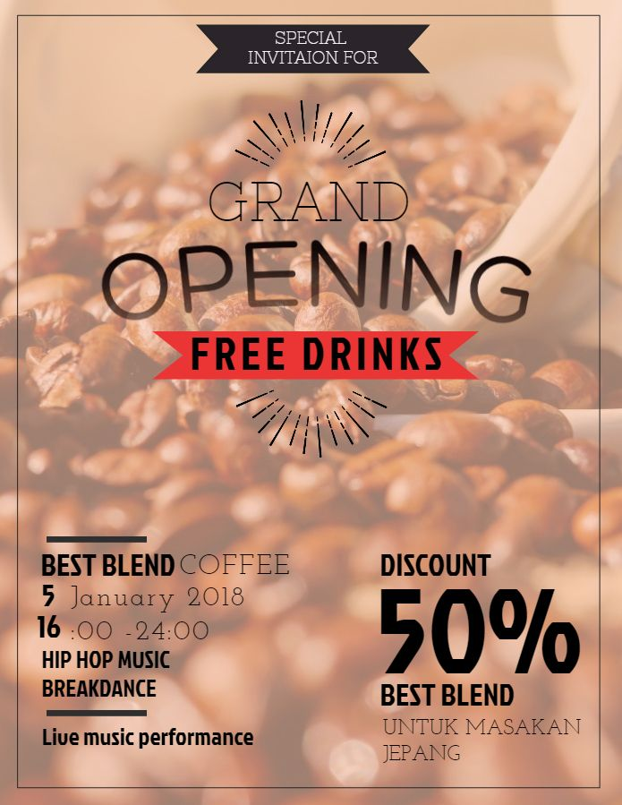 Coffee House Flyer PSD Template ~ Flyer Templates on ... |New Coffee Shop Flyer