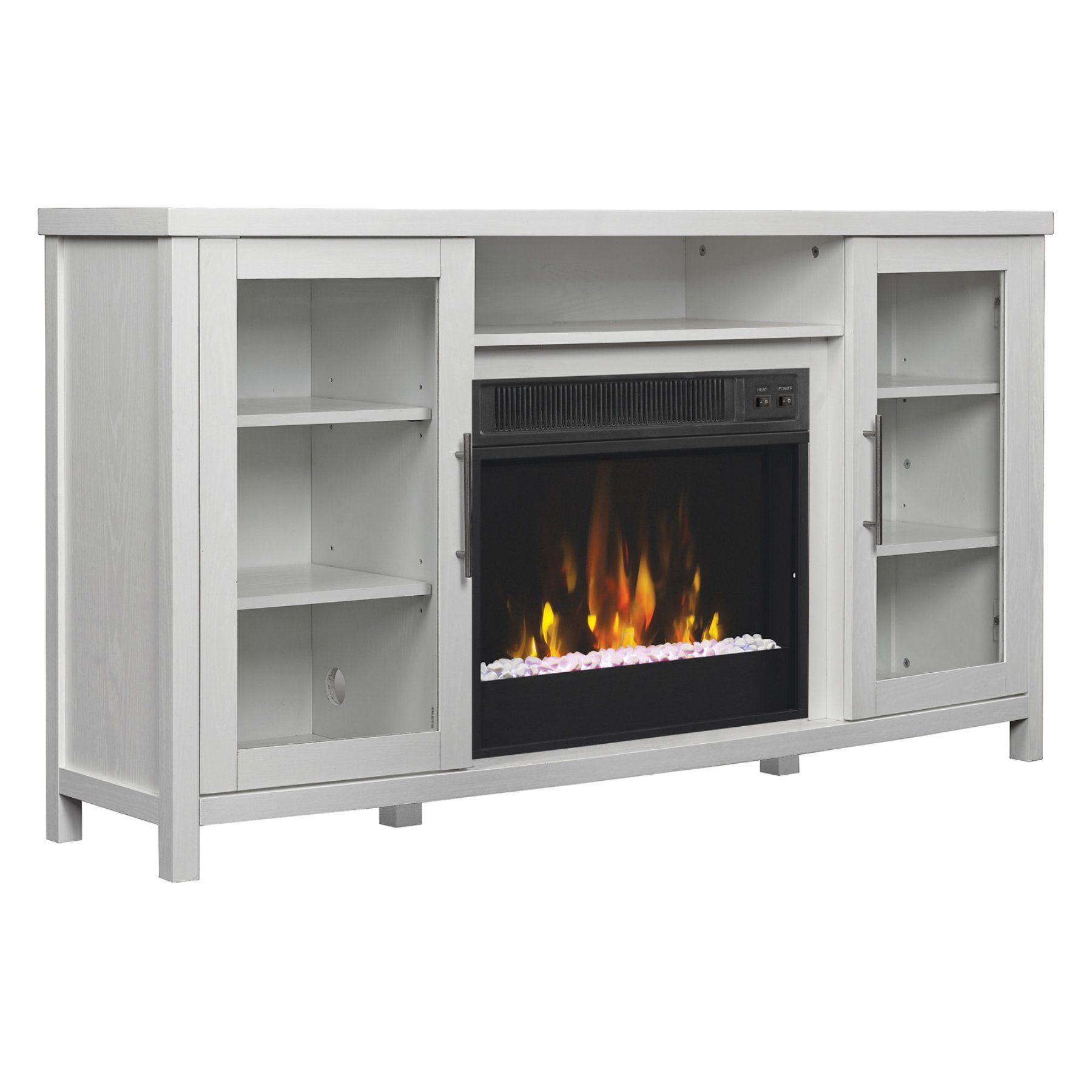 ca accessories media infrared white consoles efca electric in console fireplace weathered wyatt tv products finish