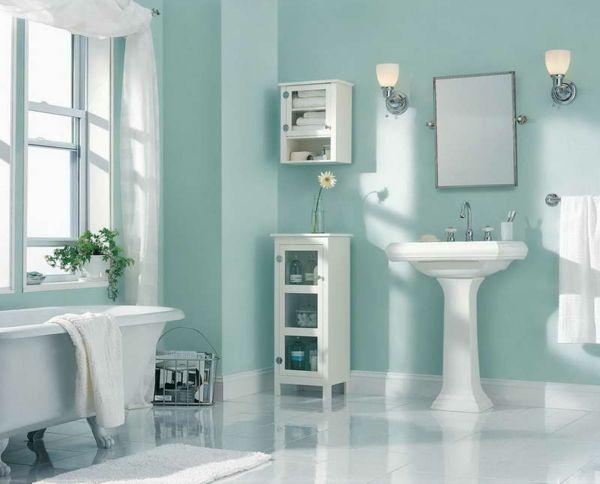 Charmant Wandfarbe Badezimmer   Wie Soll Man Die Passende Wandfarbe Fürs Bad  Aussuchen, Wenn Dieses Klein Ist.Helle Farben Lassen Den Raum Viel Breiter  Erscheinen.