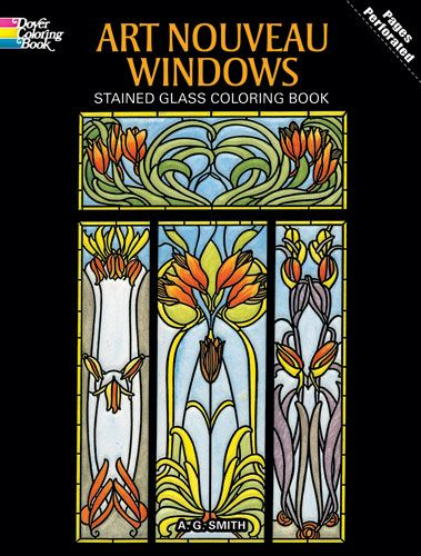 Art Nouveau Windows Stained Glass Coloring Book Window Stained Art Art Nouveau