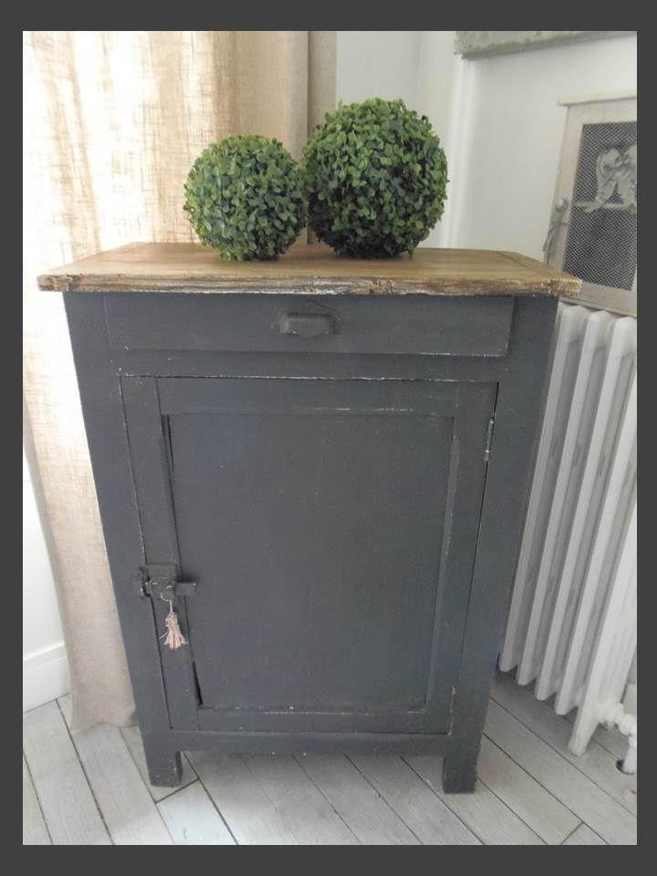 Confiturier indus patine ardoise meubles vintage industrielle - Meuble confiturier ...