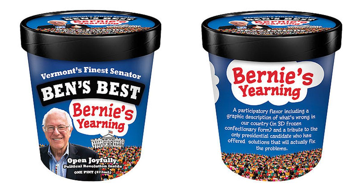 The Vermont senator just received one of the state's highest honors: A Ben & Jerry's flavor named after him.