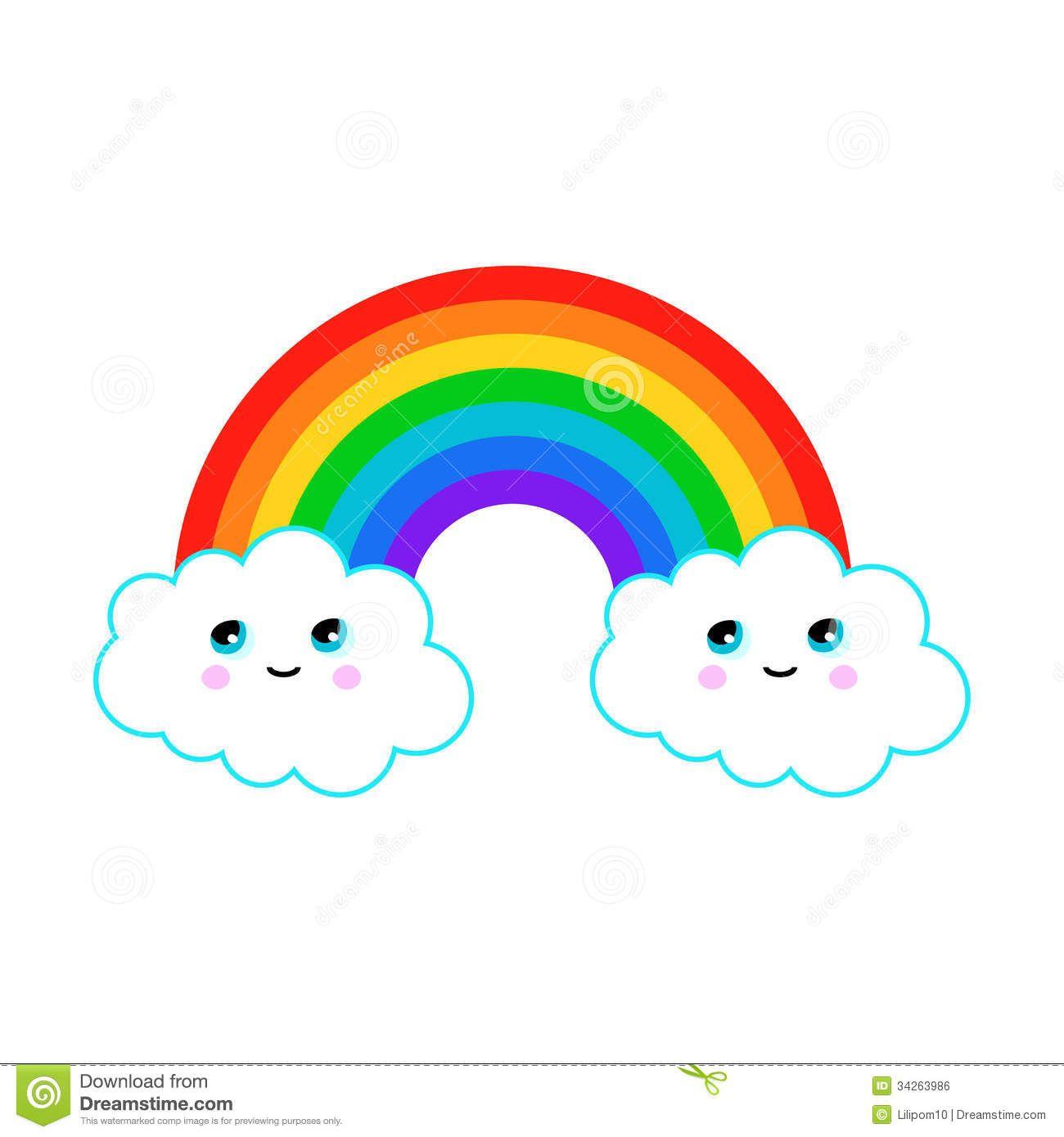 cloud rainbow clip art