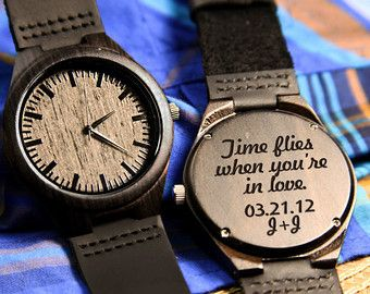 Wood Engraved Watch Personalized Watch Gift For Him Anniversary Weddings Groomsmen Best Thoughtful Gifts For Him Watch Engraving Anniversary Gifts For Him