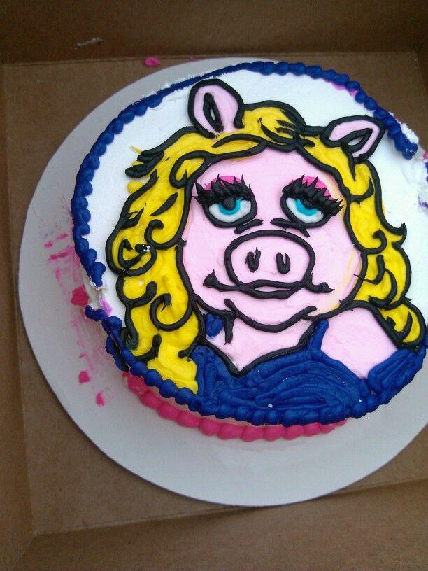 Miss Piggy Cake | Piggy cake, Muppets party, Cake