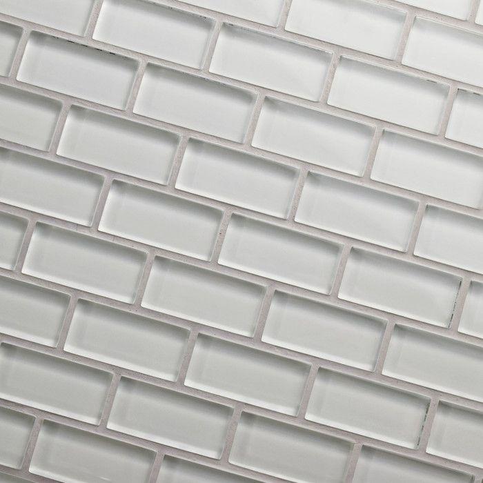 Elitetile Sierra 0 5 X 1 875 Gl Mosaic Tile In Ice White You Ll