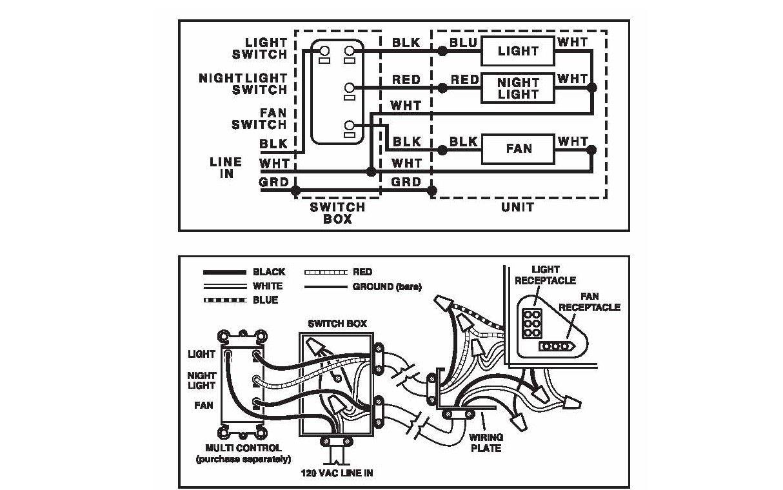 Bathroom Heater Fan Light Combo Wiring | Light switch ...