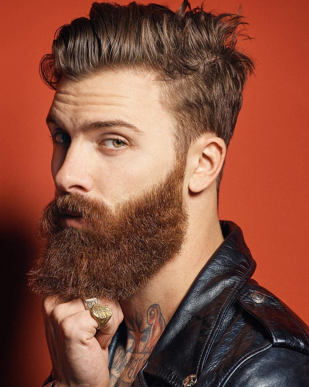 Stylish haircuts for men with thick hair consulta esta foto de instagram de beardhub u  me gusta  deep as