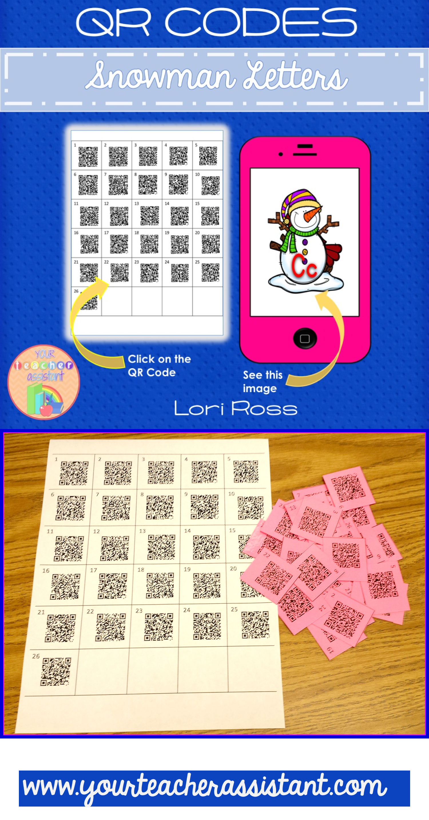 Qr Codes Snowman Letters Use Qr Codes To Have Your Esl