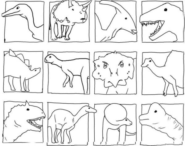Dinosaurs Head Coloring Pages Dinosaur Coloring Pages Dinosaur Coloring Online Coloring Pages