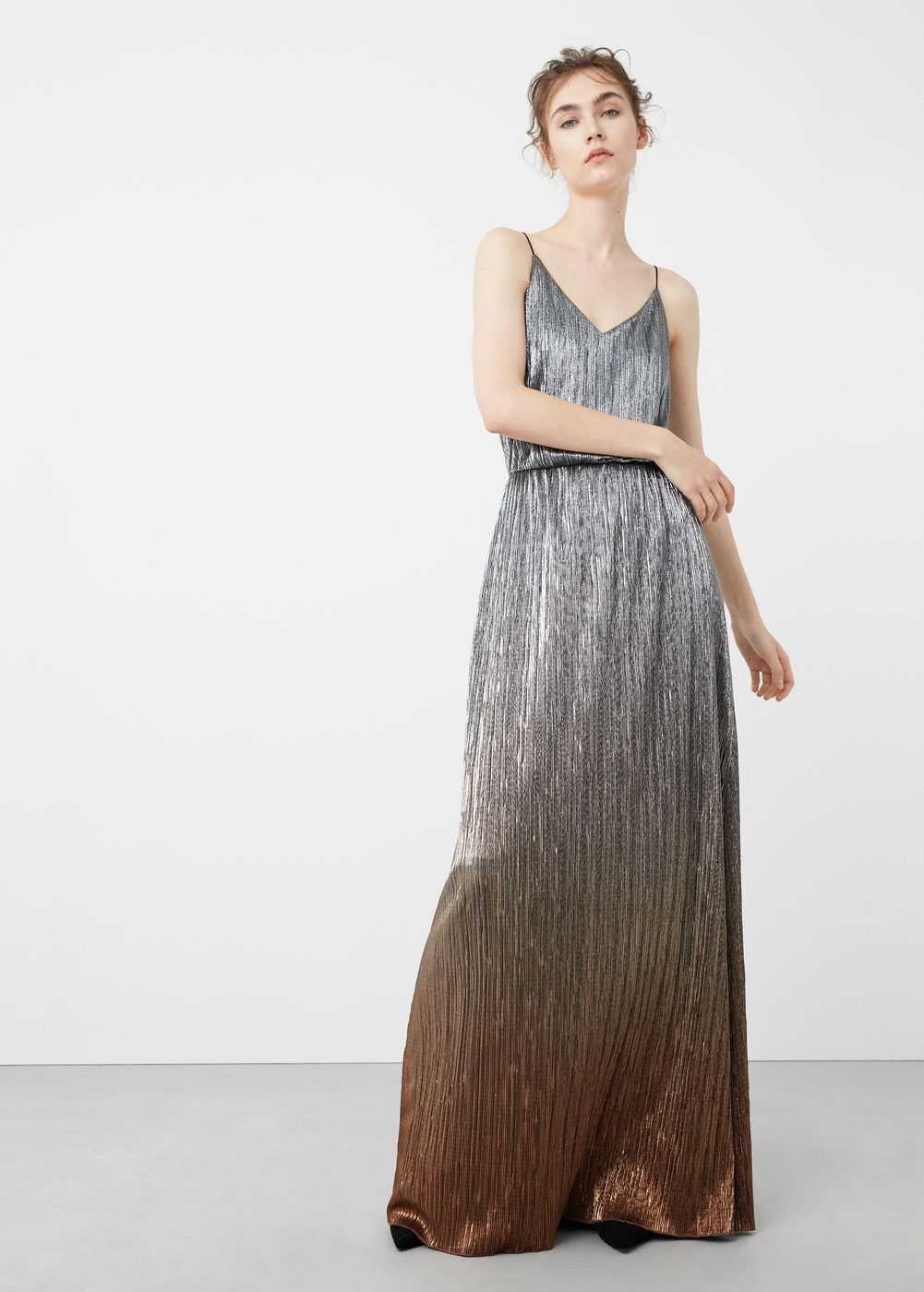 Metallic gown - Woman | Metallic, Gowns and Maxi dresses