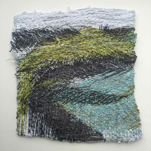 Across Digley Embroidered Art