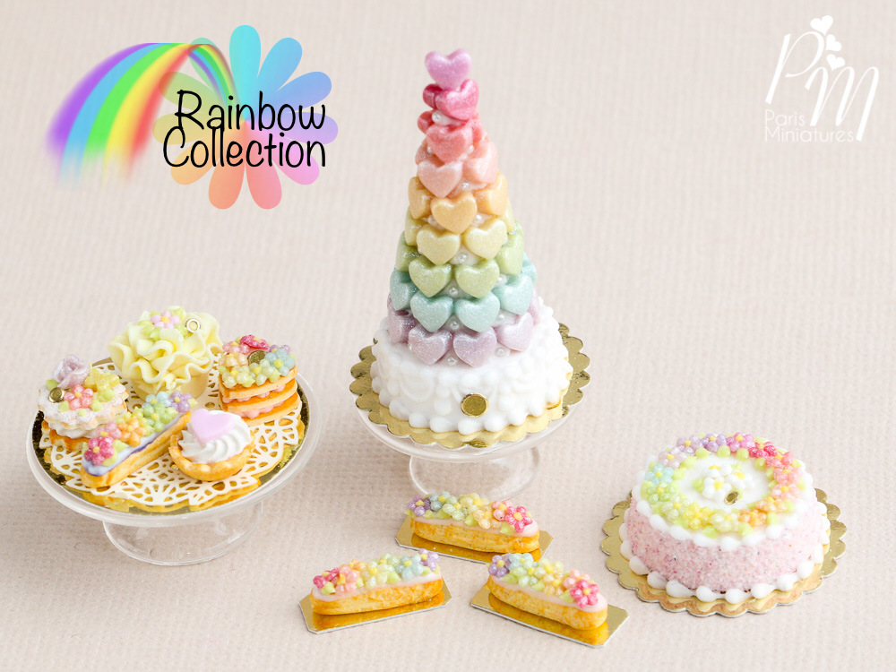 Here is our new mini collection featuring beautiful rainbow colours!   It's now in our Etsy store at www.parisminiatures.etsy.com      There...