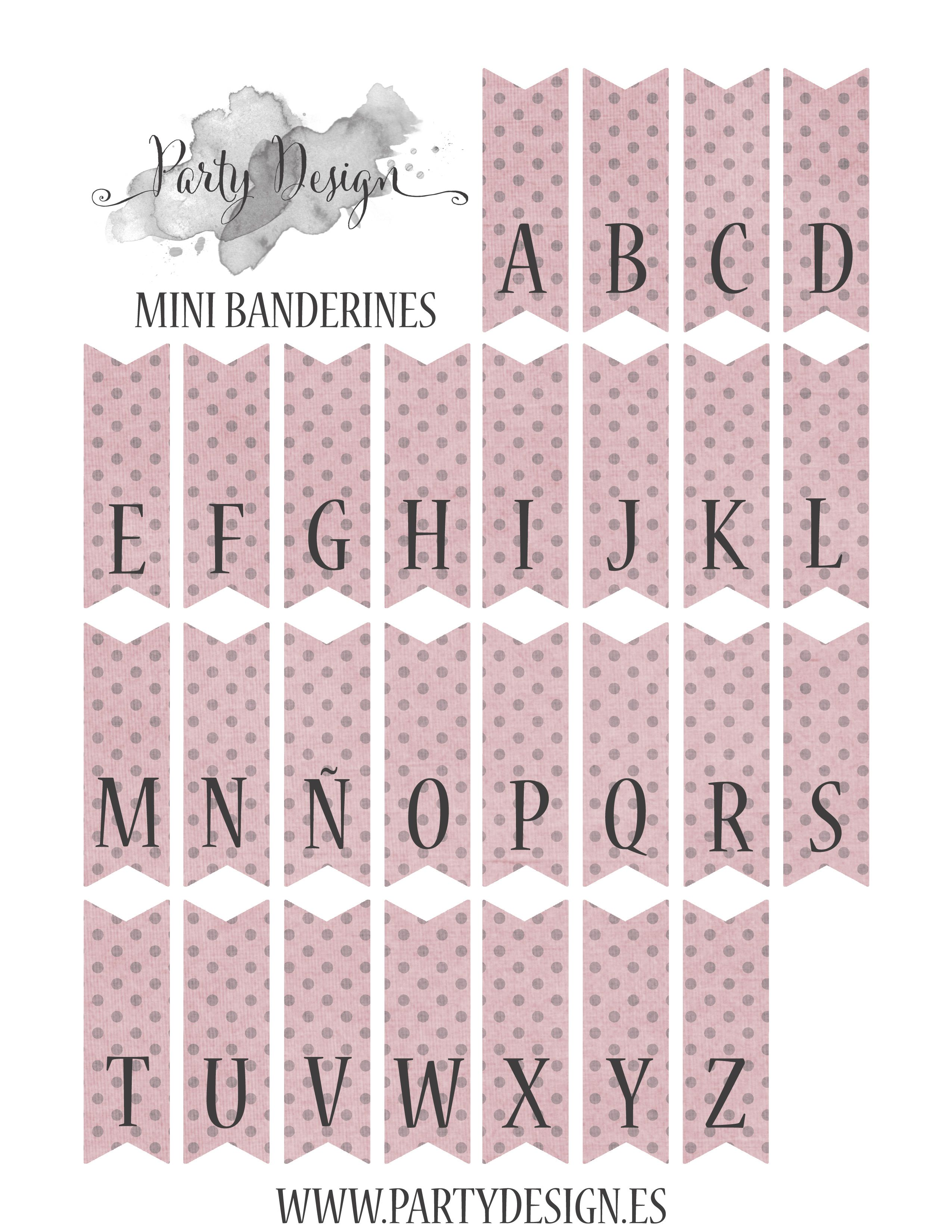free printables alphabet page for cake bunting it comes in yellow pink blue and green pastels