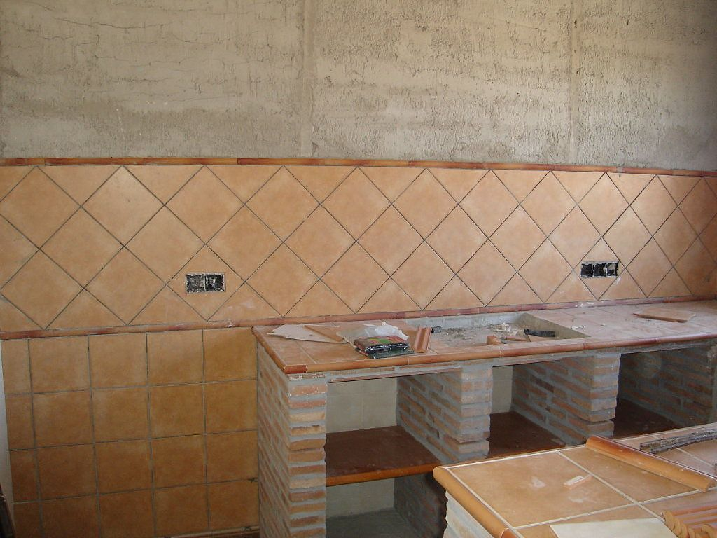 Cocinas r sticas de ladrillo buscar con google casa - Azulejos rusticos para cocinas ...