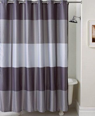Martha Stewart Collection Encore Stripe Shower Curtain | Hall ...