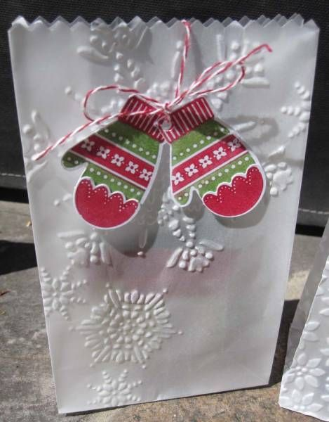 Mitten Vellum Gift Bag By Pcnor Cards And Paper Crafts At Splitcoaststampers