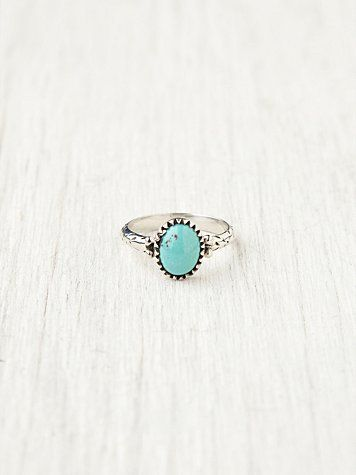 Sterling and Turquoise Ring Forever Free