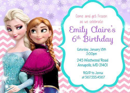 Disney Frozen Movie Printable Birthday Party Invitation Disney