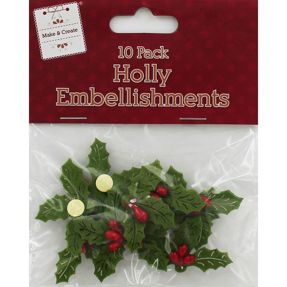 Buy Felt Holly Embellishments  online from The Works. Visit now to browse our huge range of products at great prices.