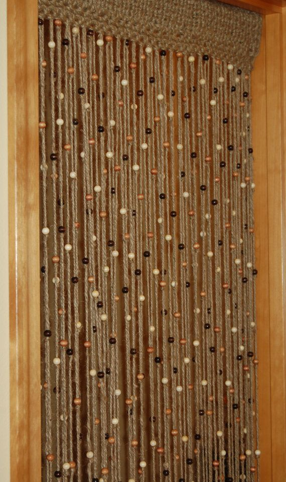 Natural Jute Crochet Curtain Door Or Window With By Mountblossom 120 00 Beaded Door Curtains