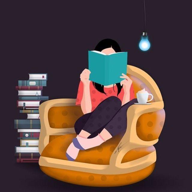 Resultado de imagem para livros por ler ilustração