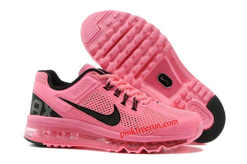 Popping Pink Black Nike Nike Air Max 2013 love!! Nike air  Nike air