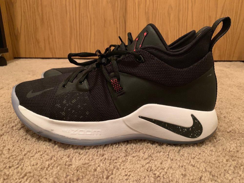 buy popular 5203f e4a57 Nike Paul George PG 2 Taurus Black White Solar Red Size 11 ...