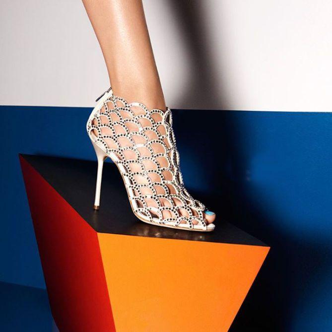 Sergio Rossi Silver Mermaid Sandals