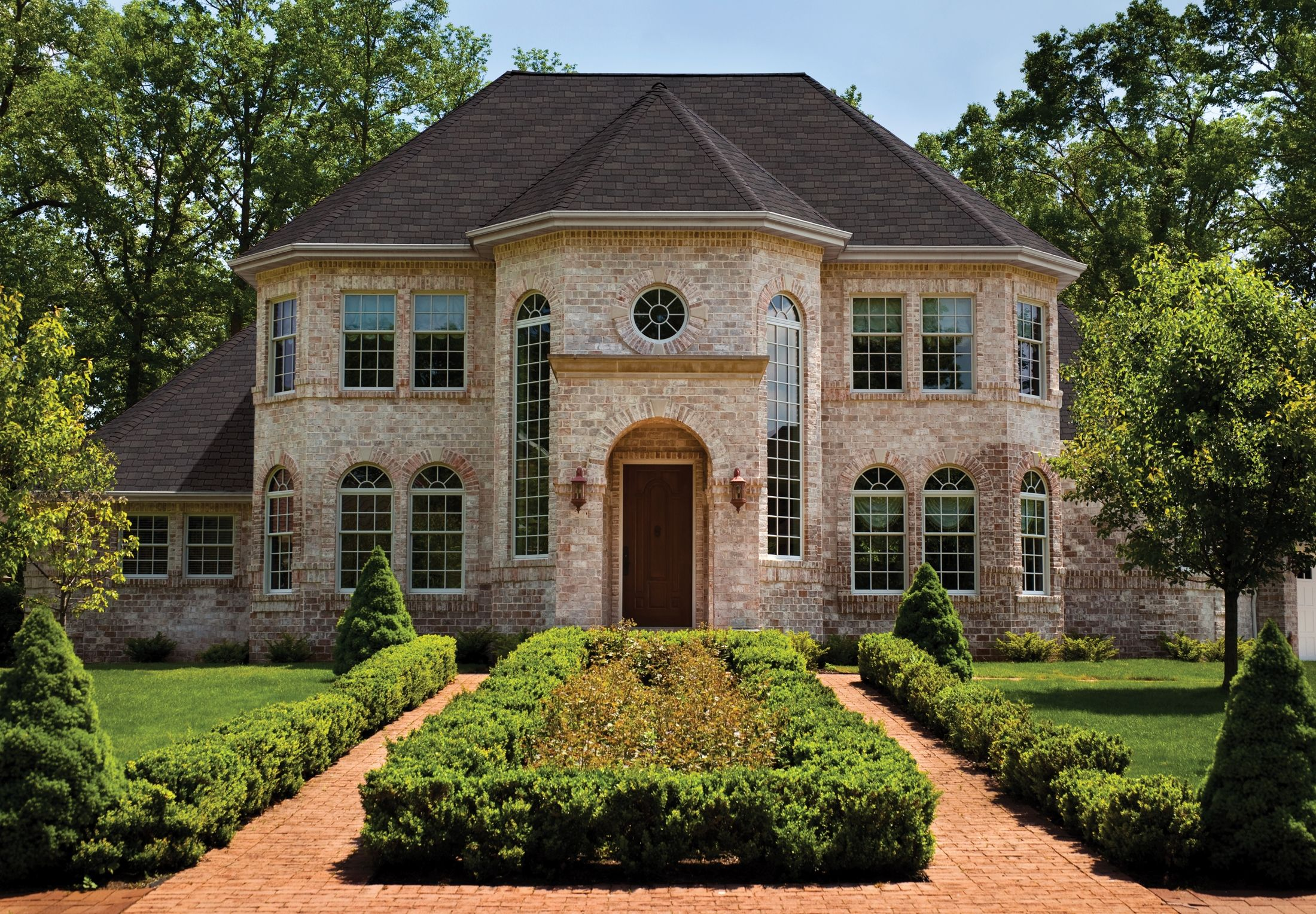 Best Gaf Woodland Shingles Woodberry Brown House Styles 400 x 300