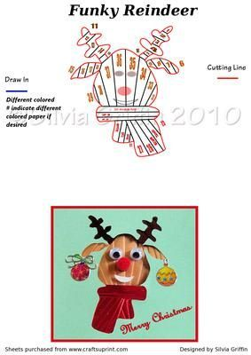 Funky Reindeer #funkyreindeer Funky Reindeer on Craftsuprint - Add To Basket! #funkyreindeer