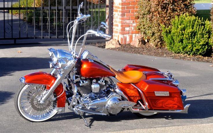 Hogs, Harleys, Baggers, Choppers | Cholo Style Harleys | Pinterest