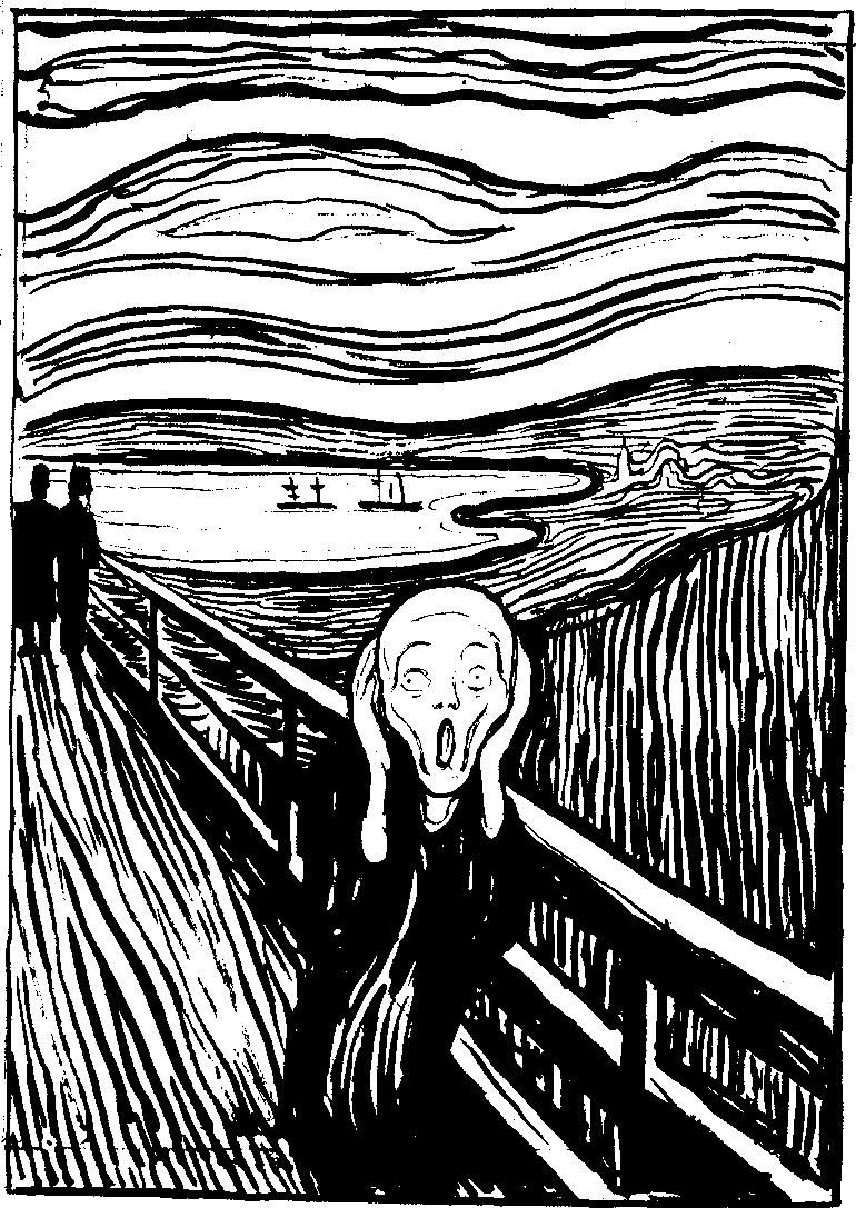 The Scream Munch 5ideas Pinterest Black Painting Famous