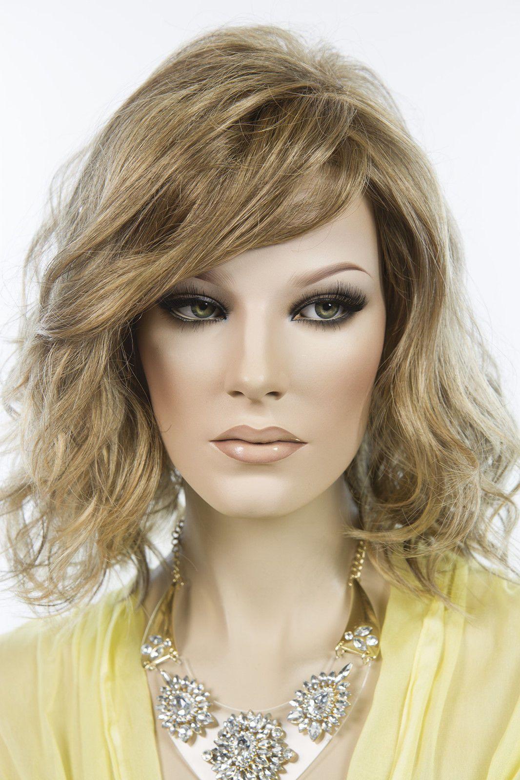 Light Butterscotch Light Ash Brown Tipped Brunette Medium Lace Front Petite  Wigs b754002eb6f8