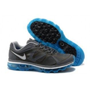 Nike Air Max 2012 Mens Running Shoes Dark Grey/Blue