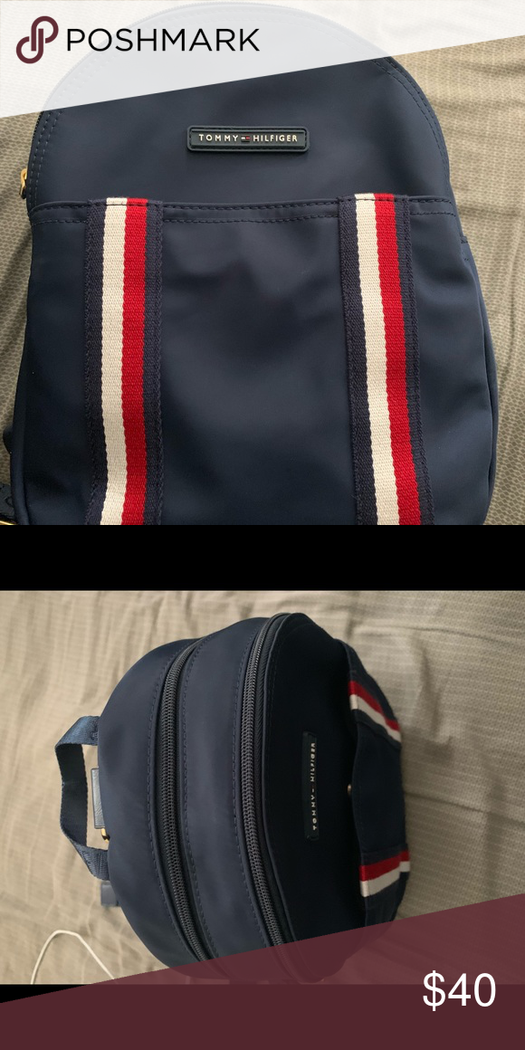 Tommy Hilfiger Backpack In Great Condition Well Tooken Care Of Looking To Sell It Message Me If Interested Than Tommy Hilfiger Bags Tommy Hilfiger Hilfiger