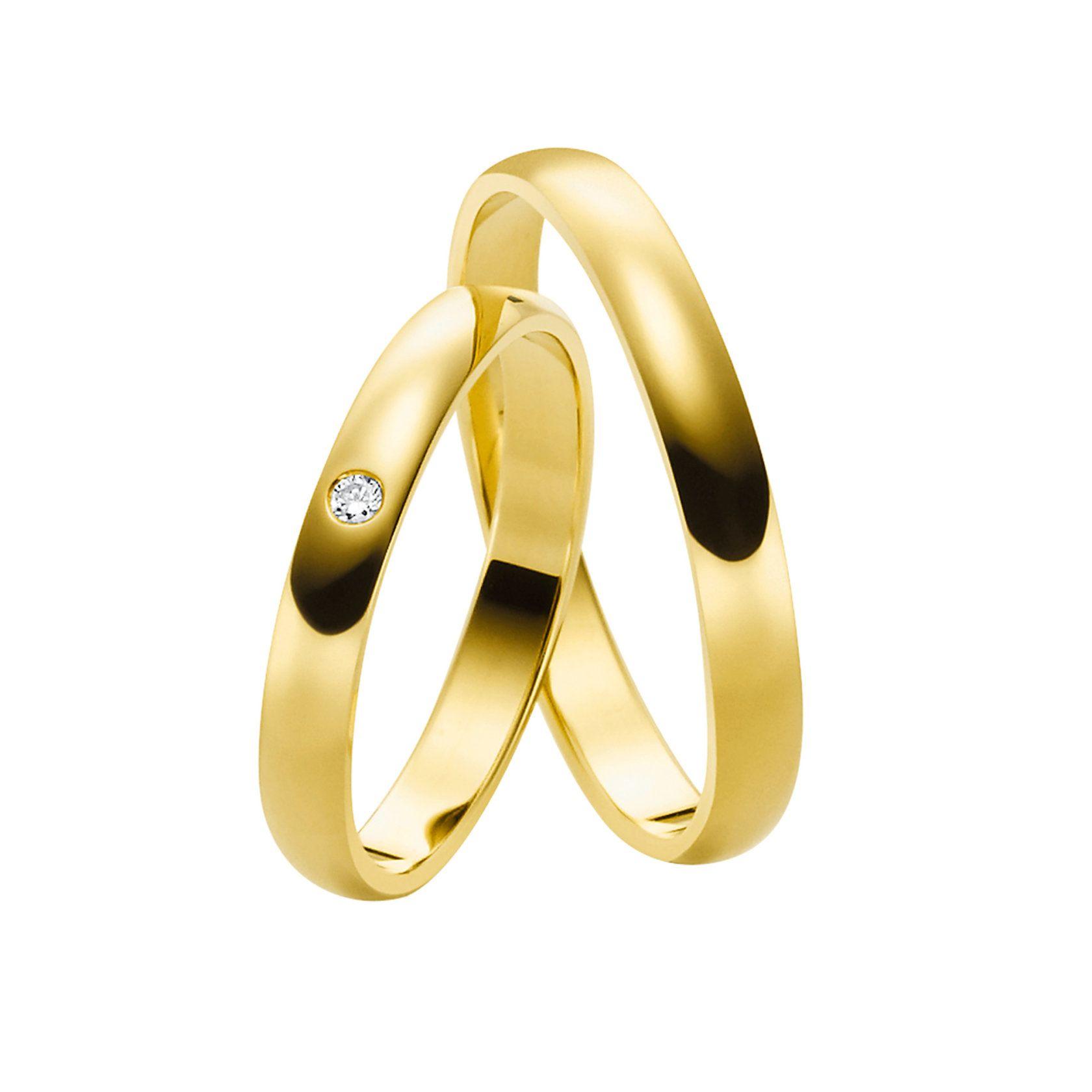Juwelier Kraemer Trauring Diamant 3/ - Gold – ca. 3,31 ct – 3