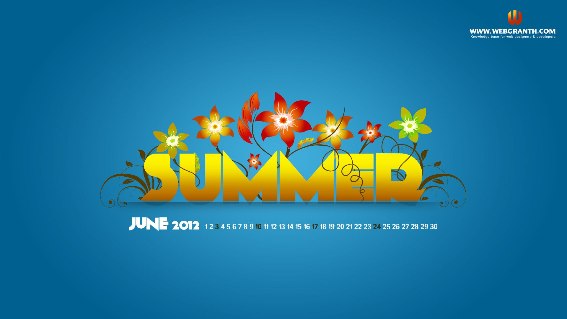 June Calendar Wallpaper 2012 Free Download Summer Hd Wallpaper Calendar Wallpaper Summer Wallpaper Wallpaper
