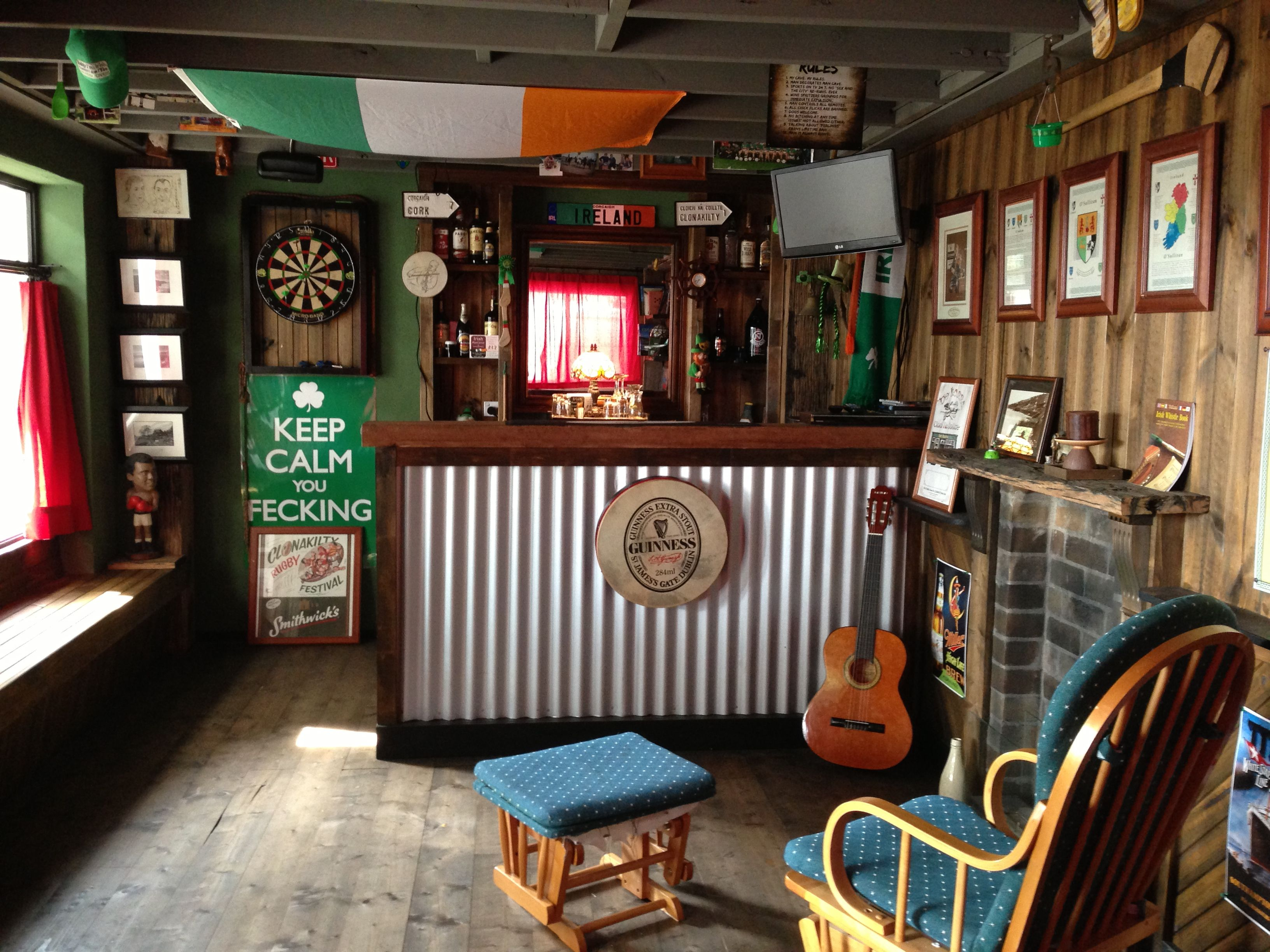 Irish Pub At Home Man Cave Furniture Small Man Cave Rustic Man