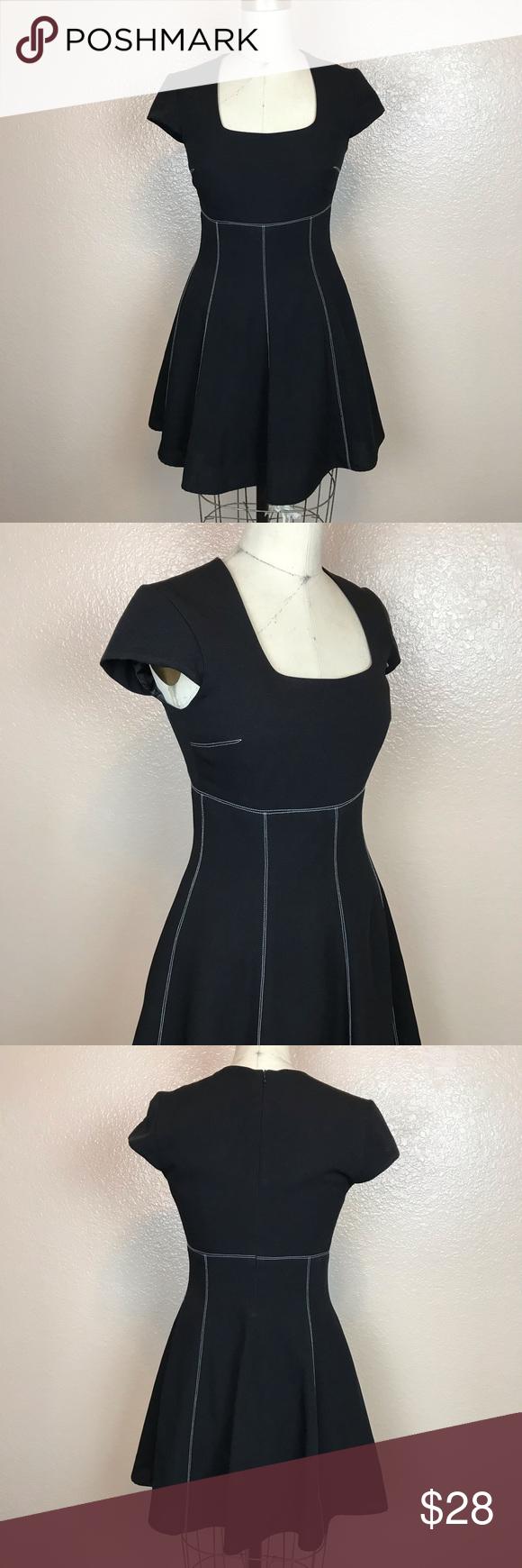 Vintage Saelee Little Black Dress A Line Size 4 Vintage Little Black A Line Dress W White Stitching Detail Size 4 In Vintage Dresses Clothes Design Dresses