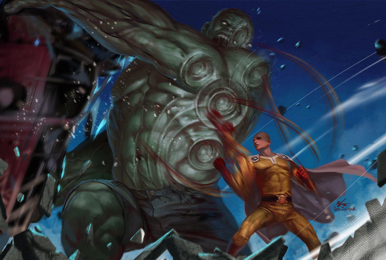 #Hulk #Fan #Art. (Hulk vs Saitama) By: InHyuk Lee. (THE ...
