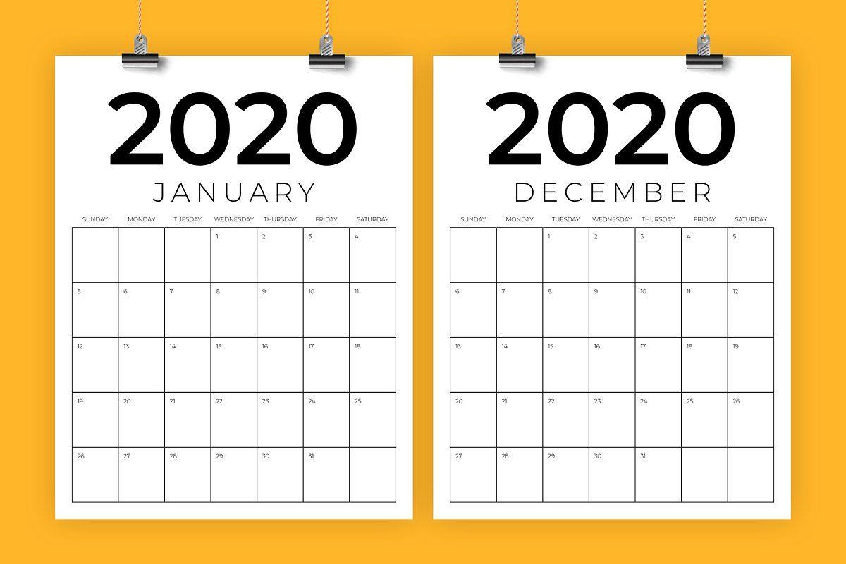 Vertical 8 5 X 11 Inch 2020 Calendar Calendar Template Printable Calendar Template 2020 Calendar Template