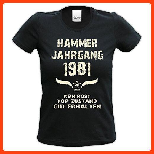 Damen Girlie Kurzarm Jahreszahl Sprüche T Shirt