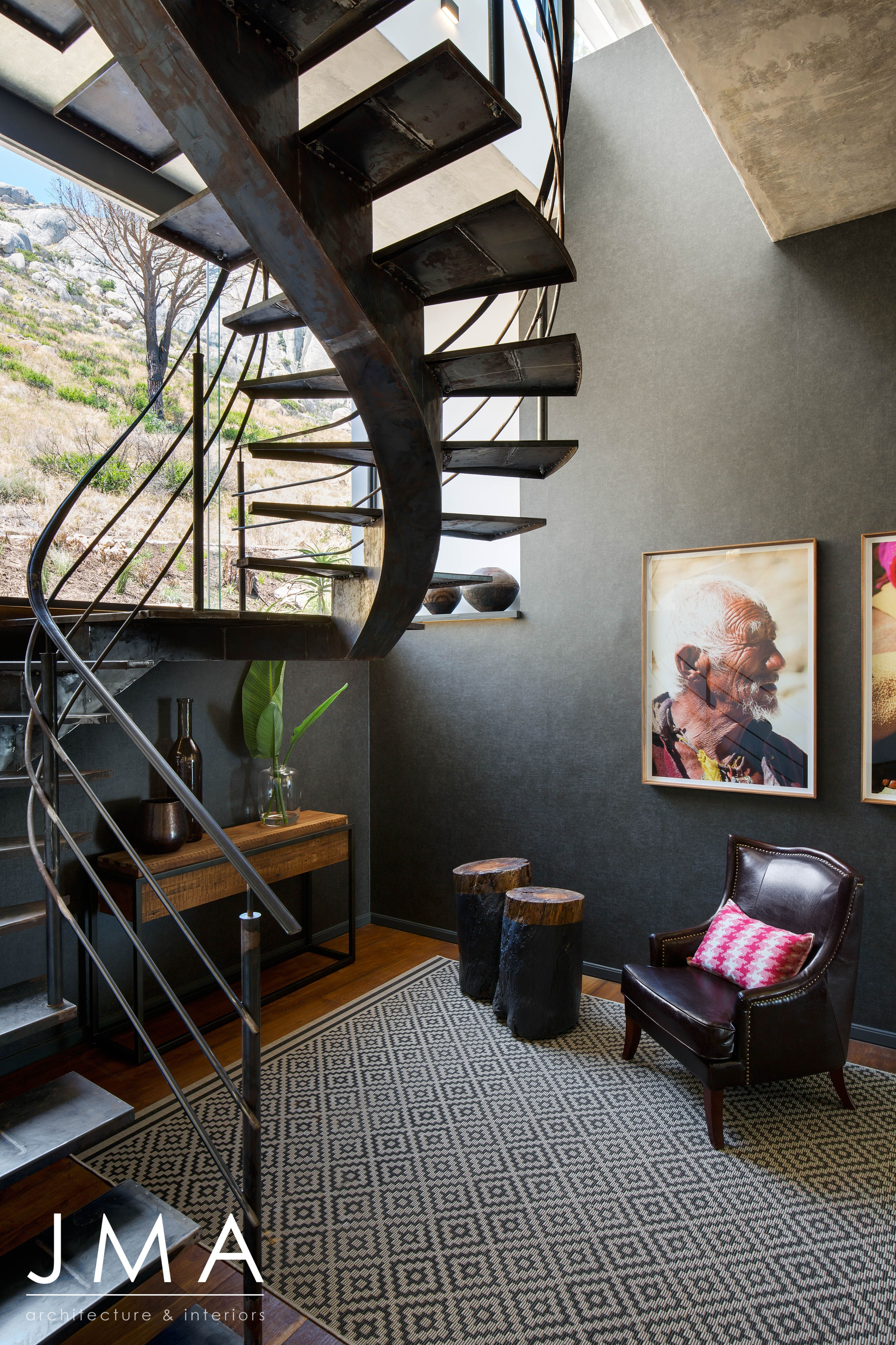 Best Industrial Spiral Staircase In Contemporary Cape Town 640 x 480