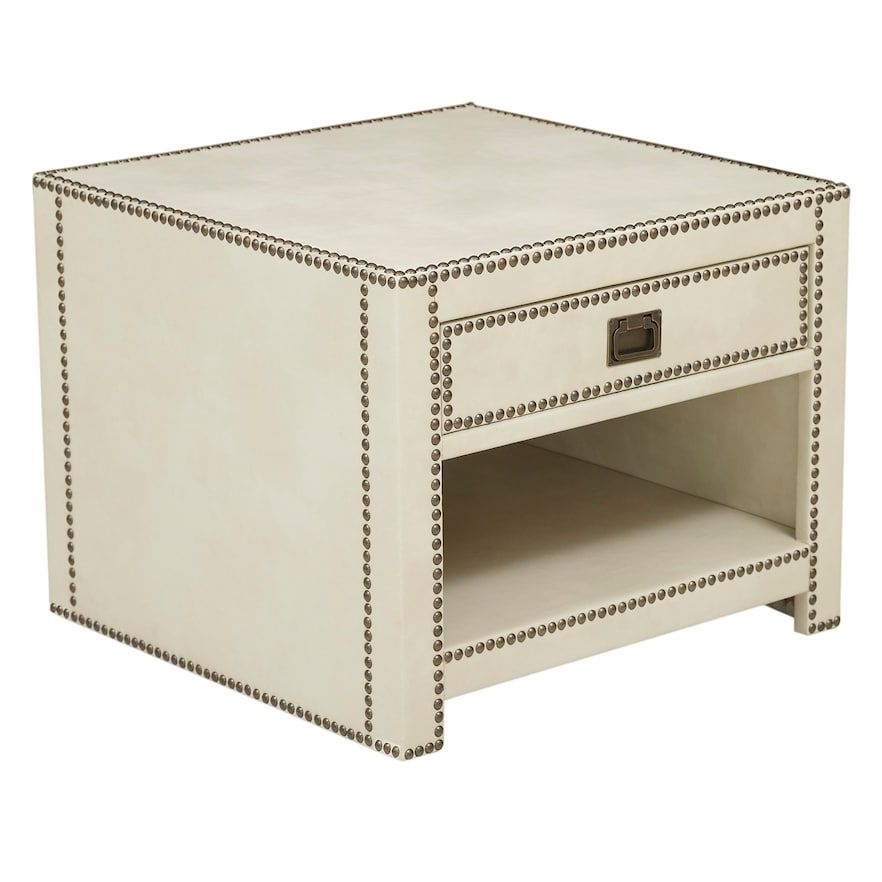 Pulaski Chester Faux Leather End Table End Tables Leather Table