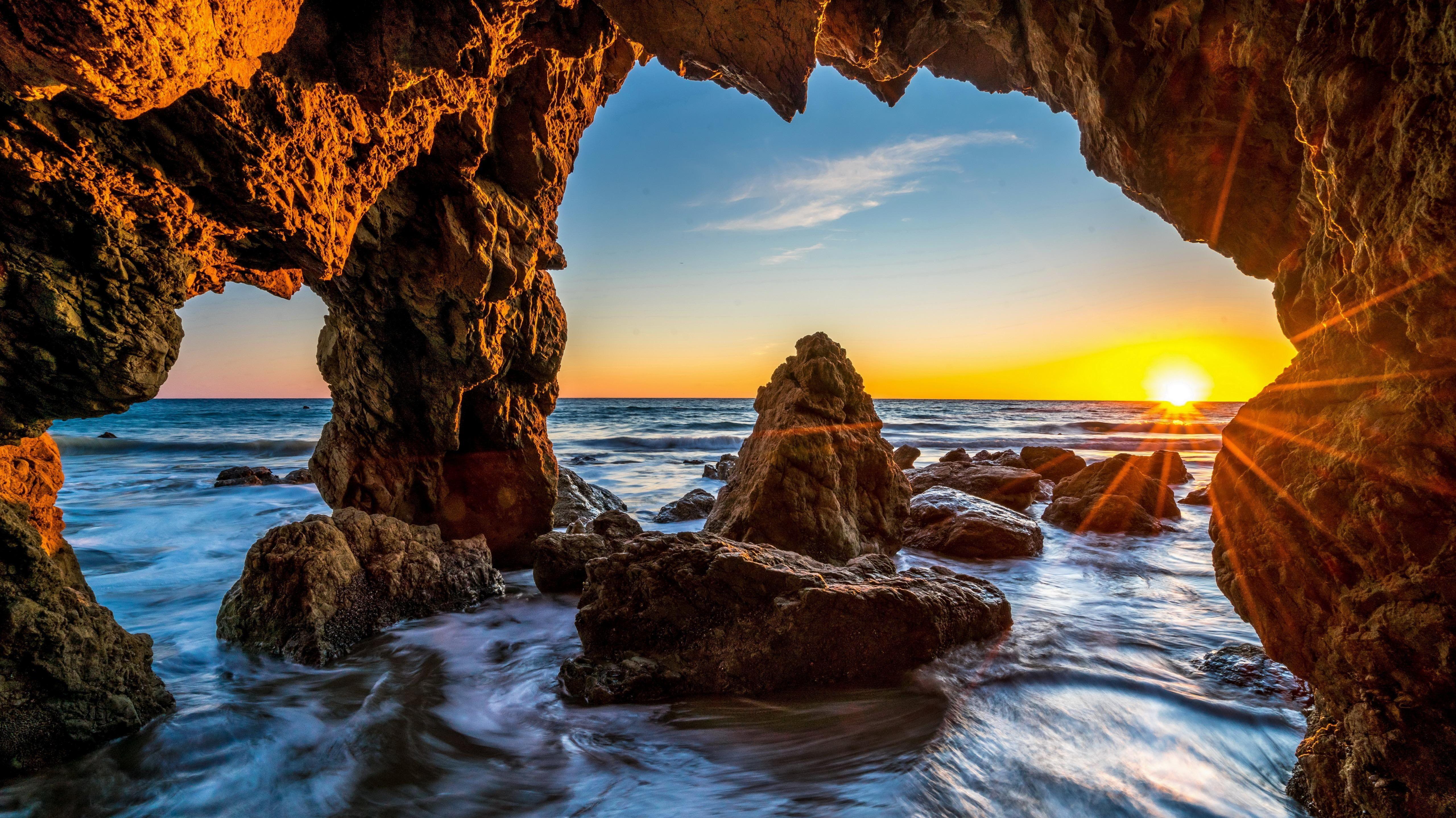 Natural Arch Malibu California Malibu Beach United States El Matador State Beach Epic Malibu Sea Cave Ocean Landscape Landscape Photography Landscape Walls