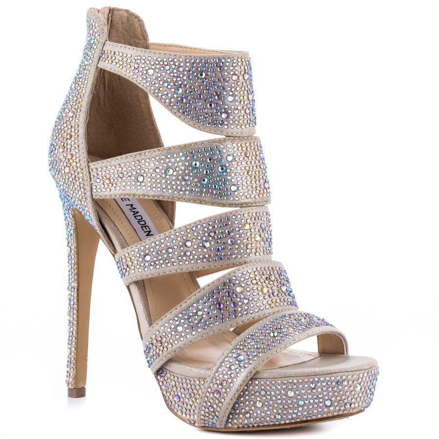 ramo de flores mientras Imposible  505-Steve-Madden-Spycee-R-Champ-Mlt-Women-Shoes | Steve madden sandals  heels, Steve madden sandals, Sparkly heels